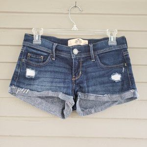 Hollister Distressed Jean Shorts Size 1 Low Rise